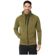 Nike Dri-FIT Therma Men's Full-Zip Training Hoodie Olive CanvasBlack