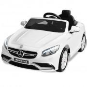 vidaXL Акумулаторна кола Mercedes Benz AMG S63, бяла, 12V