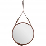 Gubi Adnet spiegel small bruin
