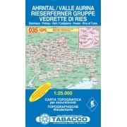 Tabacco WK 035 Valle Aurina - Vedrette di Ries / Ahrntal 1:25 000