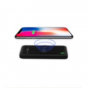 CAGER WL9 Qi Wireless Charger + 8000mAh External Power Bank for iPhone iPad Samsung etc - Black