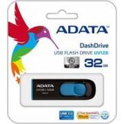USB Flash Drive ADATA DashDrive UV128 32GB USB 3.0 Negru-Albastru