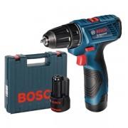 Masina de gaurit si insurubat Bosch GSR 120-Li (valiza + 2 acc 2 Ah)