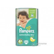 Pampers Active Baby-Dry Pelene 4+ Maxi+ 53 komada