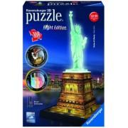Puzzle 3D Luminos Statuia Libertatii, 108 Piese Ravensburger