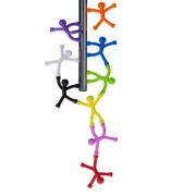 5PCS Mini Magnetic Q-Man Yellow Orange Blue Pink Purple Rubber Man Novelty Awesome Gift Cute Toys