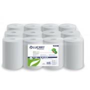 Kéztörlő, tekercses, 2 rétegű, LUCART, Eco, fehér (UBC04)