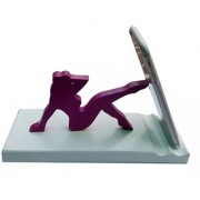 Onlineshoppee Wooden Unique Design Mobile Tablet Ipad Stand - Purple