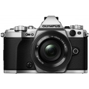 Aparat Foto Mirrorless Olympus E-M5 Mark II Pancake Zoom Kit, 16 MP, Filmare Full HD (Argintiu) + Obiectiv EZ-M1442EZ
