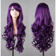 rosegal Assorted Color Harajuku Long Side Bang Fashion Fluffy Wavy Synthetic Cosplay Wig For Women
