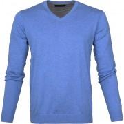 Michaelis Pullover V-Hals Lichtblau - Blau Größe XL