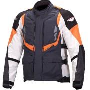 Macna Vosges Chaqueta de moto textil Negro Blanco Naranja 2XL