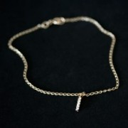 Semi anklet Jewelry Gold Plated Pendant with Crystals 5