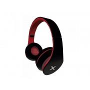approx! DJ Jazz - Auscultadores supra-aurais - no ouvido - com cabo - macaco de 3,5 mm - preto, vermelho