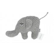 Höffner Kleine Rassel Little Elefant ¦ grau ¦ Füllung aus 100% Polyester, Be