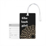 100yellow Luggage Tags- The Lost Girl Print Printed High Quality PVC Travel/Bag Tag with Silicon Strap- Ideal For Travel Luggage Tag(Multicolor)