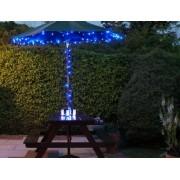 Napelemes LED fényfüzér zöld vezetékes kék – 50