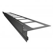 K50 Profil aluminiowy balkonowy 2.0m grafitowy RAL 7024 - listwa balkonowa okapnikowa grafitowa