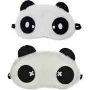 Jonty Dot Cross Panda Travel Sleep Cover Blindfold (Pack of 2) Eye Shade(Multicolor)