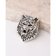 Dare by Voylla Evil Collection Howling Wolf Brooch
