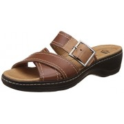 Clarks Women's Hayla Hum Brown Leather Fashion Sandals - 4 UK/India (37 EU)