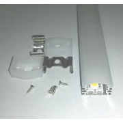 Alusín szett IP65 vízálló, átlátszó takaróval, 8-10 mm-es led szalaghoz! 2m sín+2 m tejes takaró+ 4 db rögzítő+ 2 db végzáró. Life Light led