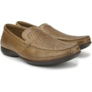 Clarks Finer Weave Tan Leather Slip on For Men(Brown)