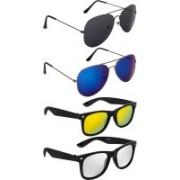 NuVew Aviator, Wayfarer Sunglasses(Black, Golden, Blue, Silver, Violet)