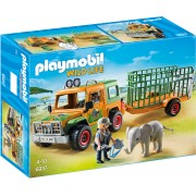PLAYMOBIL - CAMION FORESTIER SI ELEFANT (PM6937)