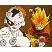 goku and freiza sticker poster dragon ball z poster anime poster size:12x18 inch multicolor