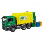 Bruder man tgs camion dei rifiuti con accessori 3764