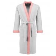 Esprit Dámská župan s kapsami, na zavazování v pase, 100% bavlna - bílý s růžovými vložkami, Esprit - L