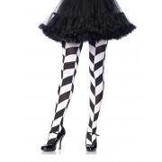 Vegaoo Psykadeliska strumpbyxor i svart och vitt för vuxna One-Size