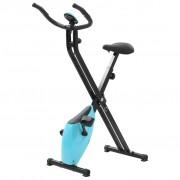 vidaXL Összecsukható Mágneses Szobakerékpár Xbike 2,5 kg Fekete Kék