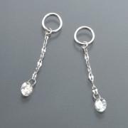 18K ダイヤモンド&ペタルチェーン チャーム 計0.14ctUP【QVC】40代・50代レディースファッション