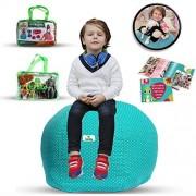 "kroco Extra Large Stuffed Animal Storage Bean Bag Chair for Kids - Toy Storage Bag - Storage beanbag Chair for Stuffed Animals (38ã â' â"" ã â' â"" ,Turquoise, Teal)"