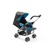 Carrinho de Bebê Flip Berço, Multikids, Azul e Preto, Até 15 kg