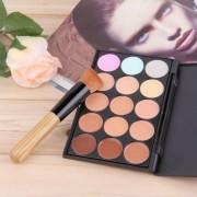 EH 15 Colores Hoja De Perfil Cream Concealer & Herramienta De Pincel De Maquillaje