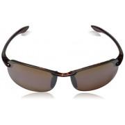Maui Jim Unisex-Adult Makaha Reader H Polarized Rimless Sunglasses, Tortoise, 64 mm