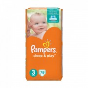 Pampers Sleep & Play pelenka, Midi 3, 6-10 kg, 78 db-os