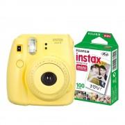 Fujifilm Cámara Instantánea Fujifilm Instax Mini 8 Amarilla más 10 películas