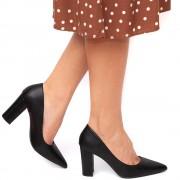 Pantofi dama Marcia cu toc patrat, Negru 39