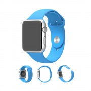 XINCUCO Sport Silicone Watch Band Strap for Apple Watch Series 4 44mm / Series 3 / 2 / 1 42mm - Blue