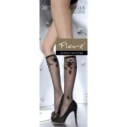 Fiore - Beautiful flower patterned knee highs Noella 20 denier