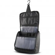 Kimood Hangende toilettas/make-up tas zwart 23 cm voor heren/dames