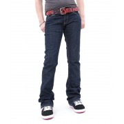 kalhoty dámské (jeansy) ETNIES - Booted - DARK RINSE