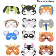 12pcs/Set EVA divertidos dibujos animados Los niños máscaras de animales Dress Up parte suministros