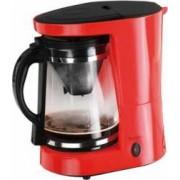 Cafetiera 2 in 1 cu functie pentru preparare ceai DomoClip DOD124R 2 filtre cana din sticla de 1.2l 680W Rosu