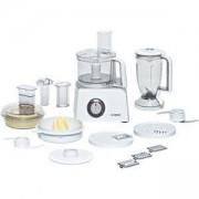 Кухненски робот Bosch Styline, 800 W, безстепенното регулиране на скоростта, Сокоизстисквачка, Приставка за тесто, Бял/Сребрист, MCM4200