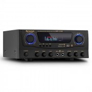 Auna Amp-2 HiFi- Karaoke-Amplificador 100W máx. USB SD MP3